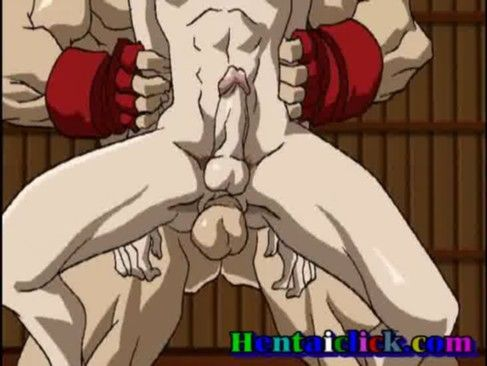 Lutadores fazendo suruba em hentai.